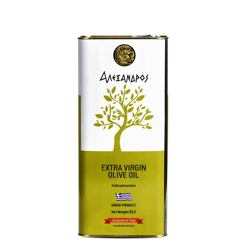 Alexandros Extra virgin olive oil tin can 5L